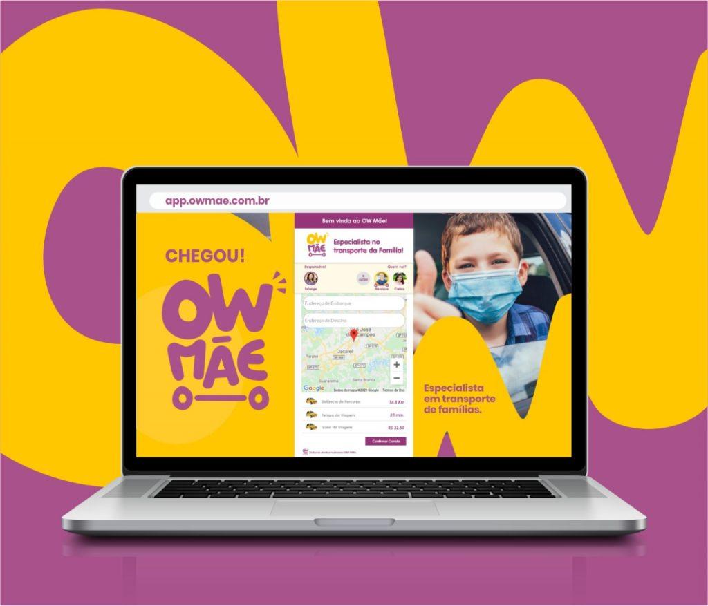 """Focada no transporte para famílias, """"Ow Mãe"""" inova mobilidade com plataforma em webview. Seja uma """"OW Mãetorista""""!"""