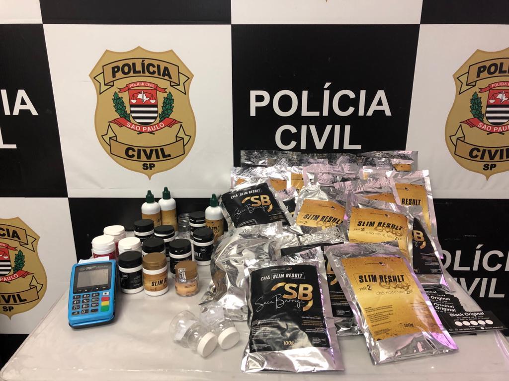 Venda ilegal de medicamentos para emagrecer é alvo de operação da Polícia Civil em São José