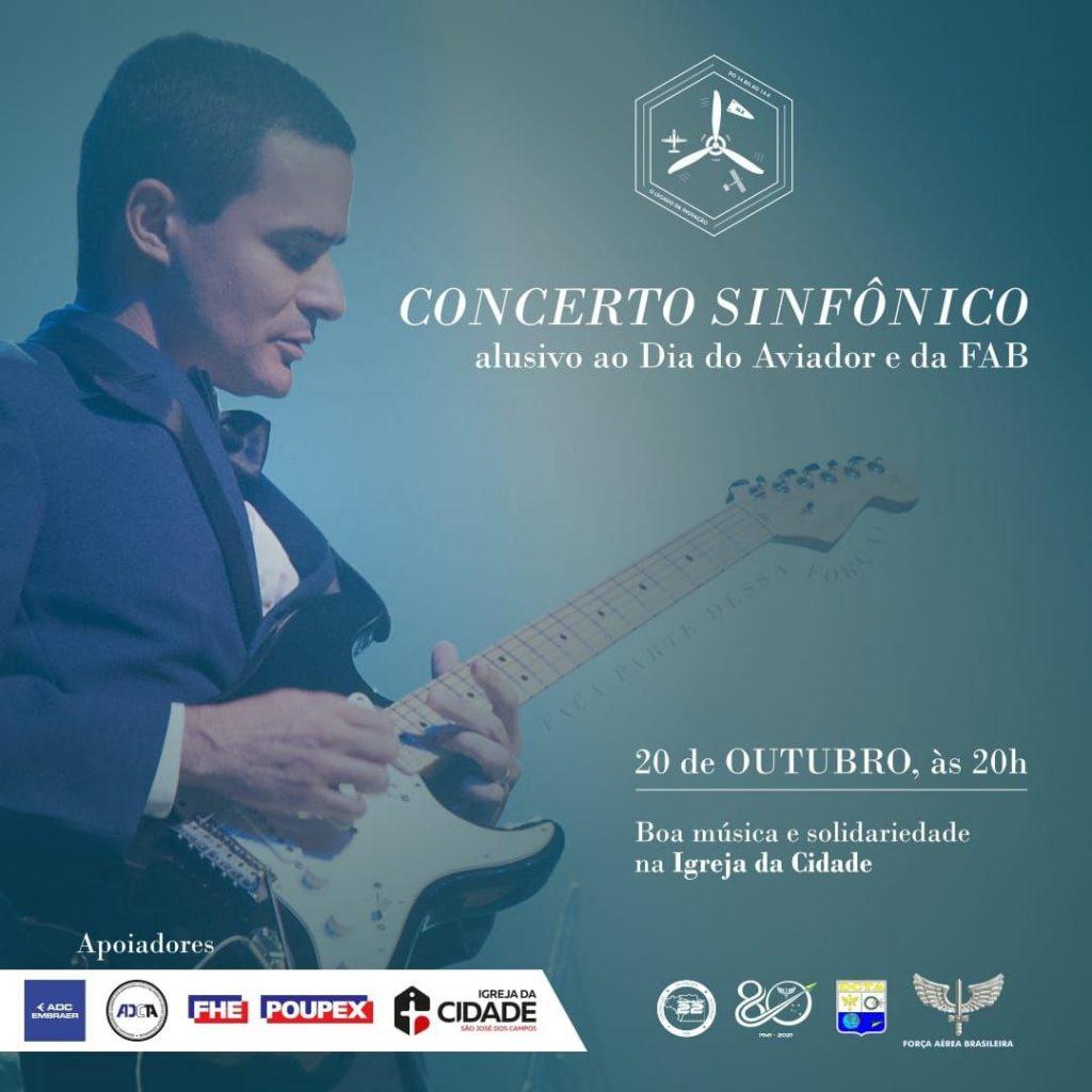 Gratuito: Concerto solidário será realizado pela FAB na Igreja da Cidade em comemoração ao Dia do Aviador
